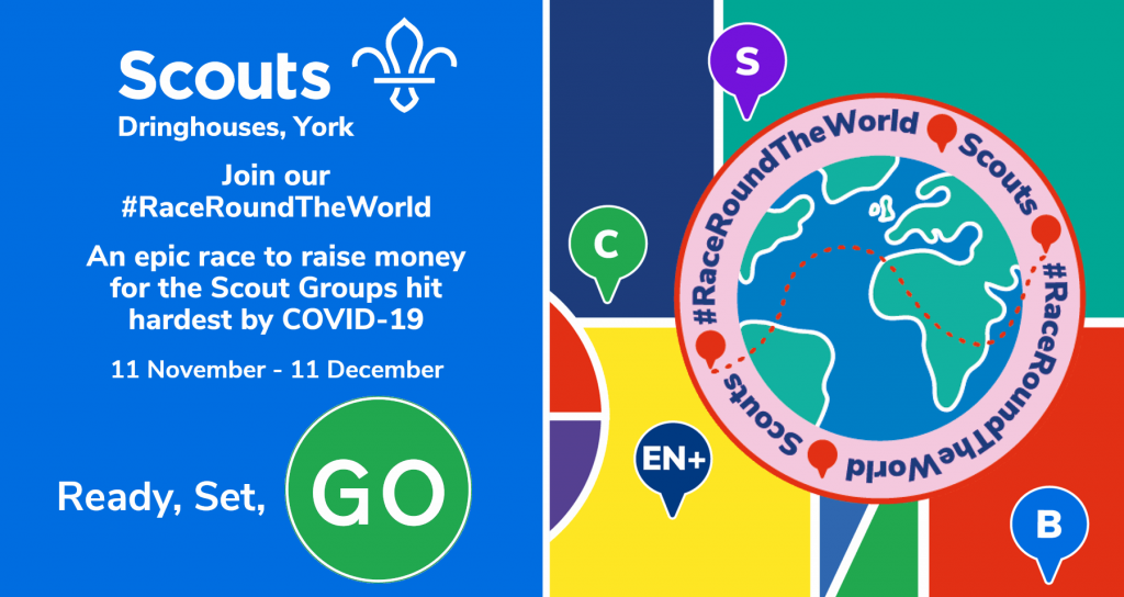 The #RaceRoundTheWorldStarts today for Dringhouses Scouts