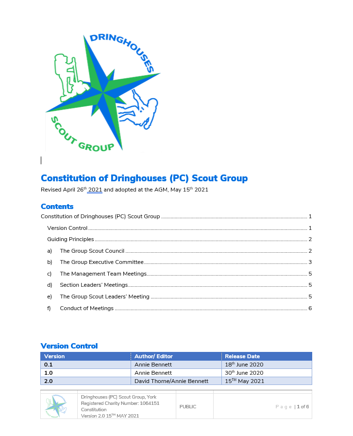 Group Constitution